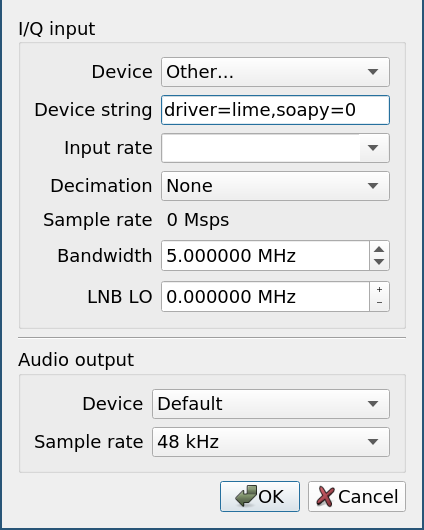 LimeSDR Mini with Gqrx on Arch Linux